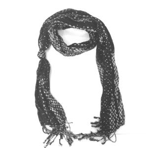 Cheetah scarf with sparkly black and silver